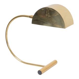 Koch & Lowy Adjustable Brass Task Desk Lamp For Sale