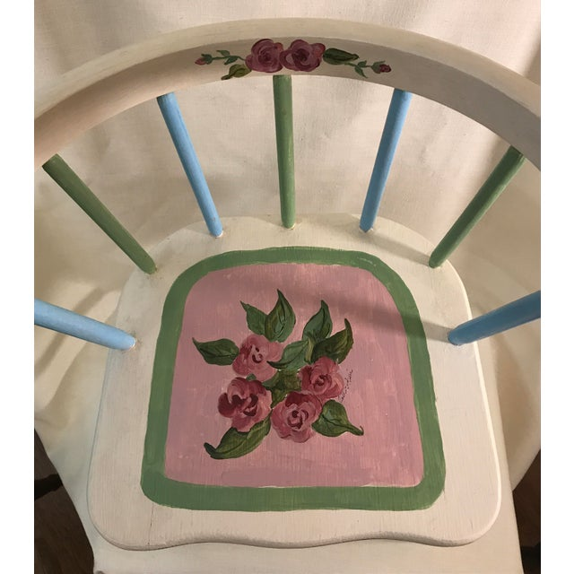 Children's Painted Child's Spindle Chair For Sale - Image 3 of 9