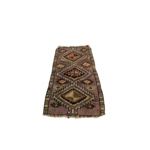 "Antique Turkish Oushak Mat - 1'5""x2'11"" - Image 2 of 6"