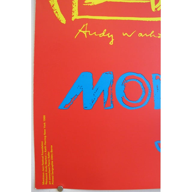 1986 Montreux Jazz Festival Poster, Keith Haring and Andy Warhol For Sale - Image 5 of 5