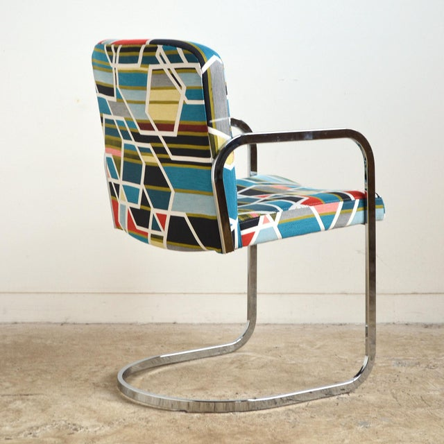 1970s Design Institute of America Set of Four Chairs with Maharam Fabric For Sale - Image 5 of 11