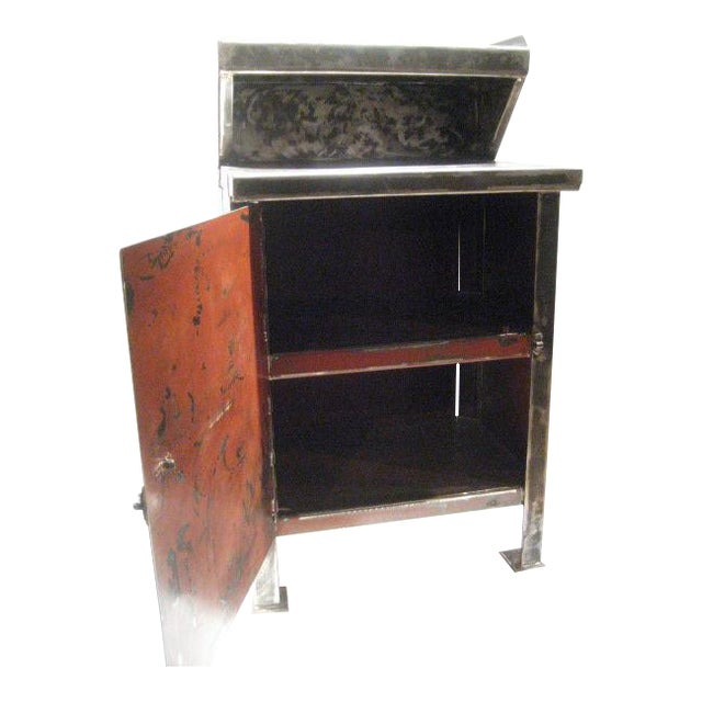 Industrial Cabinet with Top Shelf For Sale