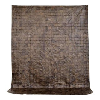 Vintage Leather Bedspread Throw For Sale