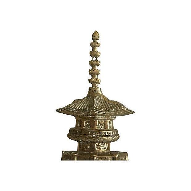 1960s Oversize Pagoda & Monkey Door Knocker For Sale - Image 5 of 9