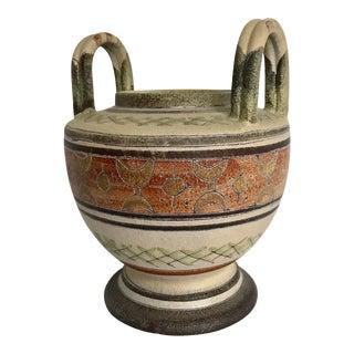 Italian Handled Vase For Sale
