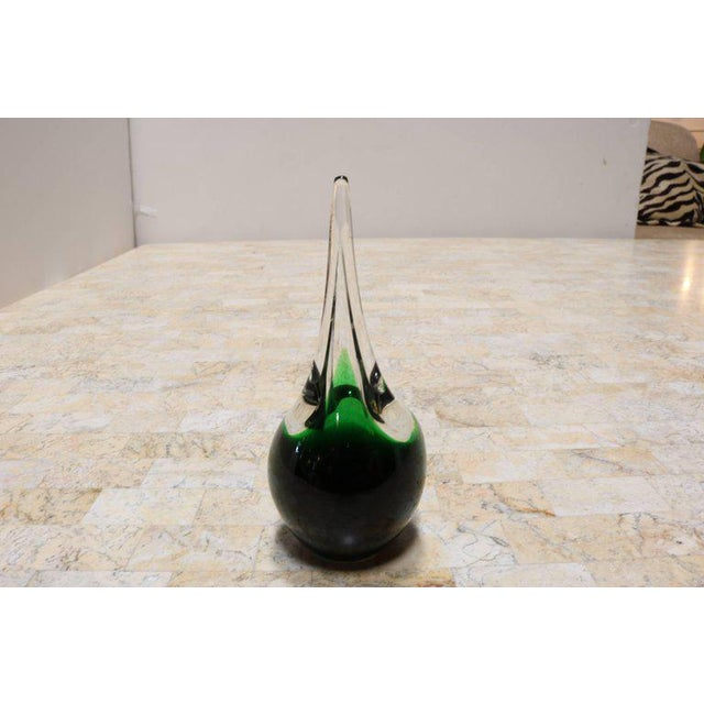 "Green Glass ""Flamingo"" Orchid Vase by Holmegaard - Image 7 of 9"