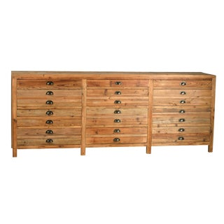 Reclaimed Wood Chest of Drawers For Sale