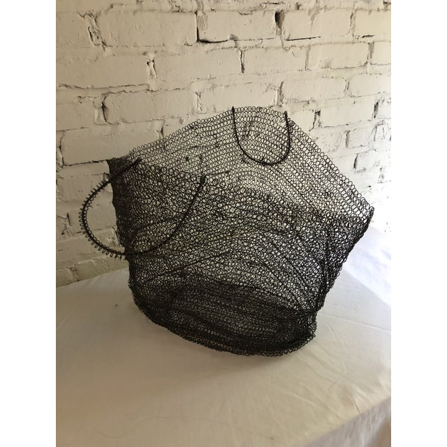 Metal Wire Art Bag For Sale - Image 7 of 10