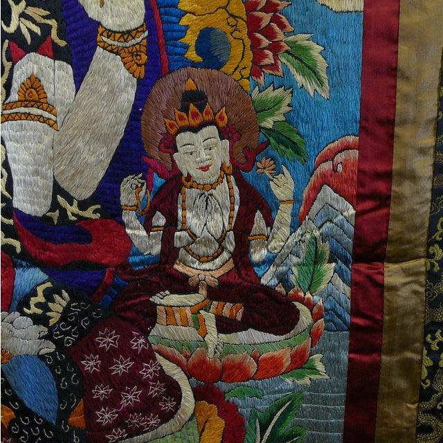Embroidery Tibetan Tara Buddha Thangka Art - Image 7 of 10