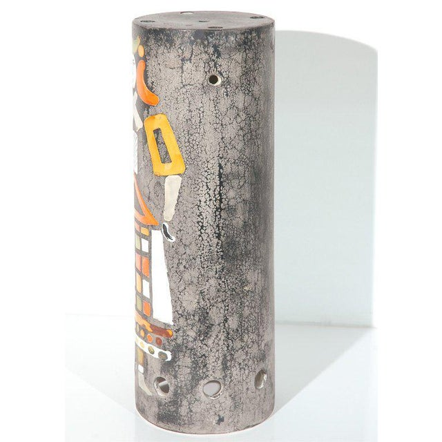 1950s Ceramic Lamp Shade by Roger Capron For Sale - Image 5 of 7