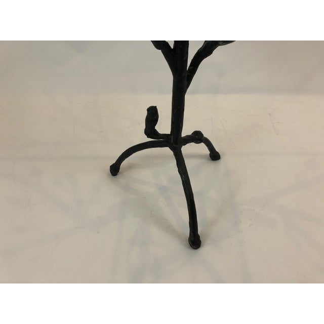 Giacometti Style Iron Based Side Table For Sale - Image 4 of 7