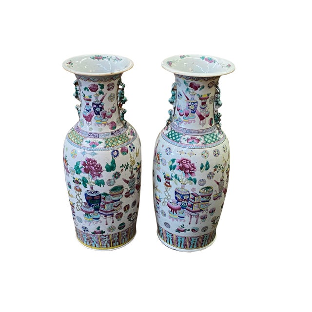 19th Century 19th Century Asian Vases - a Pair For Sale - Image 5 of 5