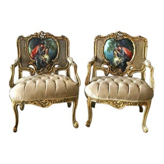Modern French Louis XVI Style Chairs - A Pair For Sale