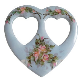 A.K. France Limoges Porcelain Heart Picture Frame