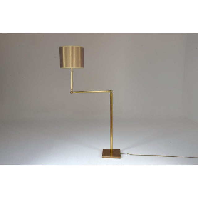 Metal 20th Century French Brass Floor Lamp, 1960's For Sale - Image 7 of 12