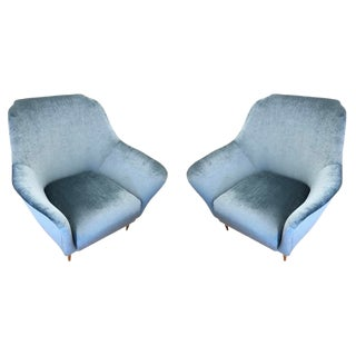 Large Armchairs Attributed to Ico Parisi - a Pair For Sale