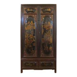 19th Century Gilt Painted Cabinet For Sale