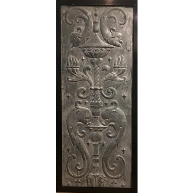 Mid 19th Century Zinc Architectural Panel For Sale - Image 4 of 4