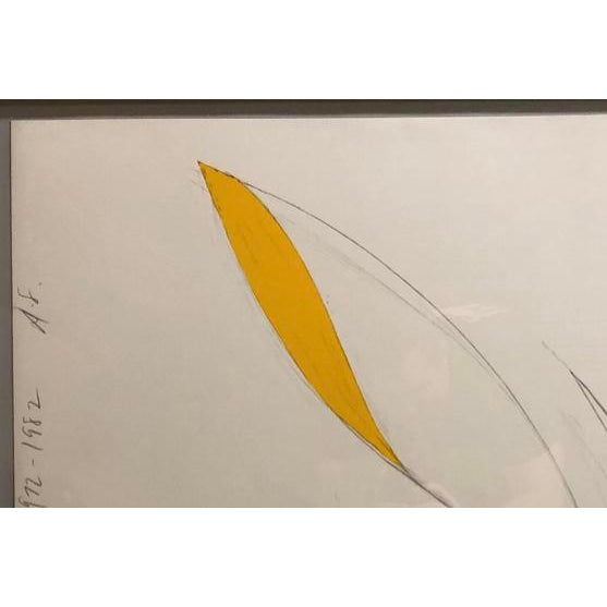 Donald Sultan (b. 1951) Yellow Iris, 1982 Color lithograph on paper, 38 1/4 x 30 1/2 inches Framed: 34 x 42 inches Pencil...