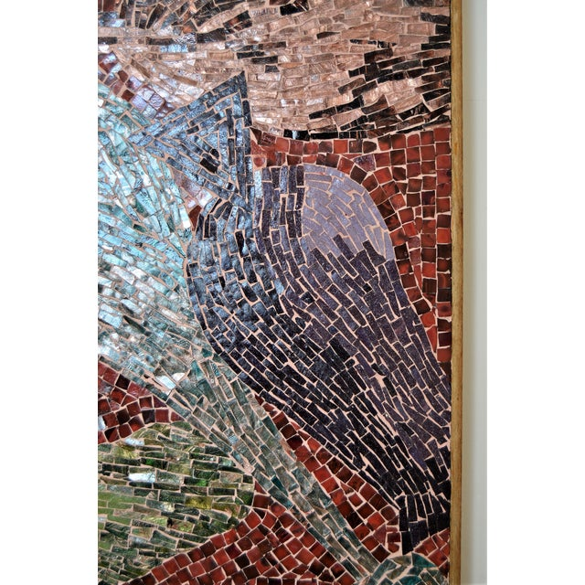 Cubist Glass Mosaic Wall Sculpture -- Mid Century Modern MCM Boho Chic Cottage Abstract Expressionism Folk Art - Image 6 of 11
