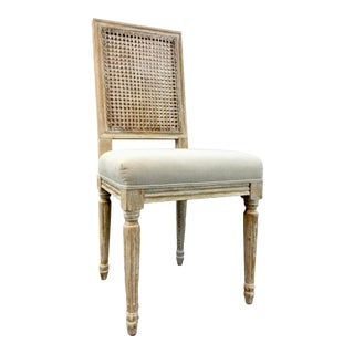 Bungalow 5 Modern Annette Cane Back Natural Side Chair For Sale