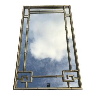 1950s Hollywood Regency Greek Key Mirror For Sale