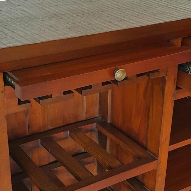Mahogany Wood Bar Chest - Image 6 of 6