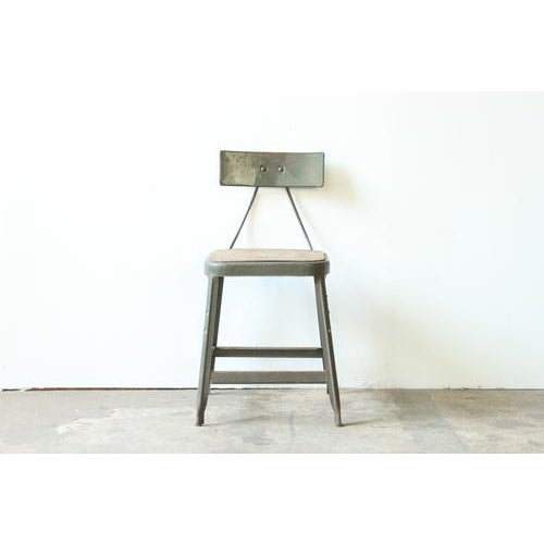 Industrial Metal Frame Chair - Image 2 of 4