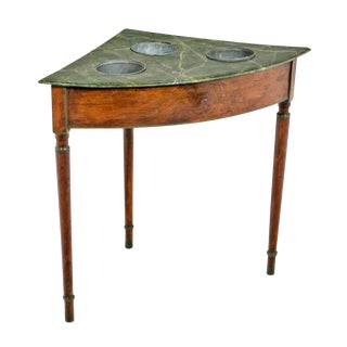 19th Century French Faux Marble Wine Table For Sale