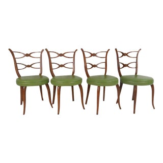 Vintage Modern Italian Dining Chairs - Set of 4 For Sale