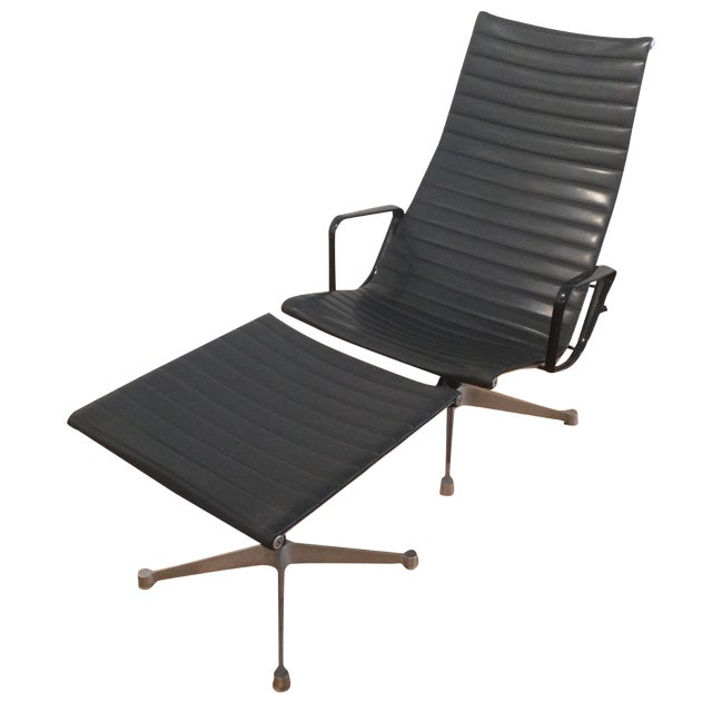 Eames Aluminum Group Lounger & Ottoman For Sale - Image 10 of 10