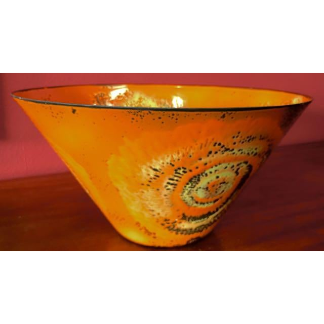 Mid-Century Enamel Centerpiece Bowl - Image 2 of 10