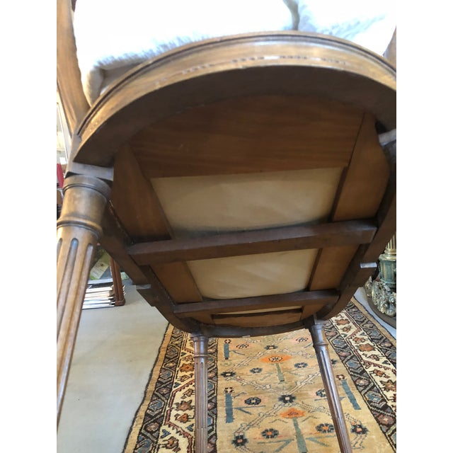 19th Century Antique Louis XVI Style Carved Walnut Bassinet For Sale - Image 10 of 12