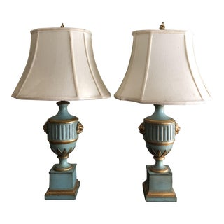 Mid Century Borghese Urn Lamps - A Pair