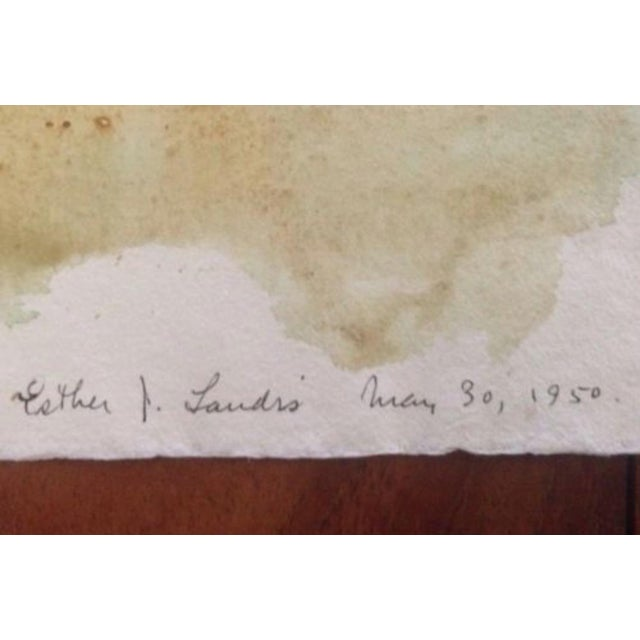 """Esther Landis 1950 Watercolor on paper 16"""" x 22 1/2"""" Signed and dated May 30, 1950 in ink lower right Double-Sided..."""