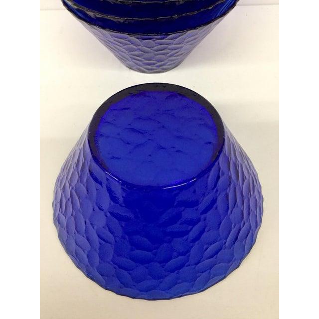 1960s Vintage Cobalt Blue Bowls - Set of 6 For Sale - Image 9 of 11