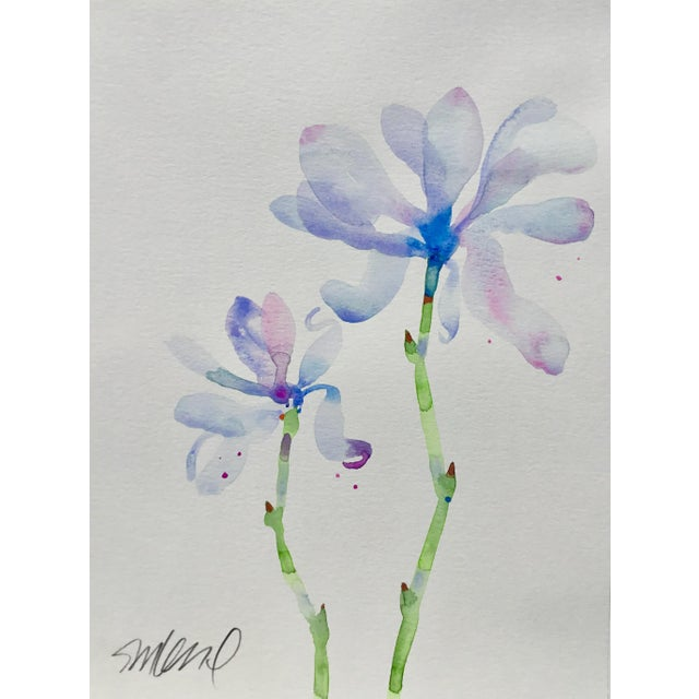 "Realism Botanical 42, Original Watercolor, 9x12"" For Sale - Image 3 of 3"
