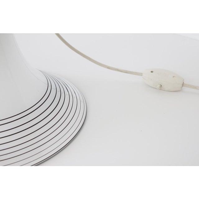 Italian Black and White Murano Swirl Glass Table Lamp - Image 6 of 10
