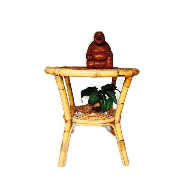 Albini-Style Bentwood Bamboo Side Table - Image 4 of 7