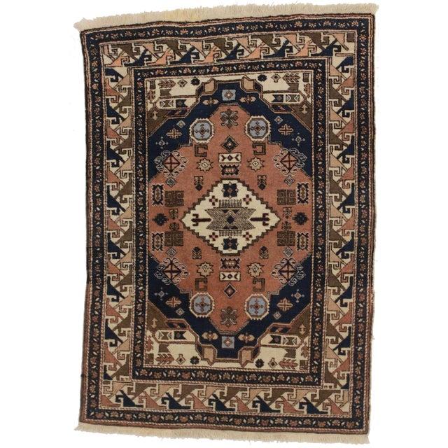 Vintage Persian Ardebil Wool Rug - 3′8″ × 5′2″ - Image 2 of 3