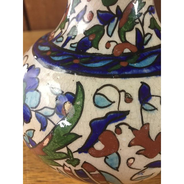 Middle Eastern Hand-Painted Glazed Pottery For Sale - Image 10 of 11