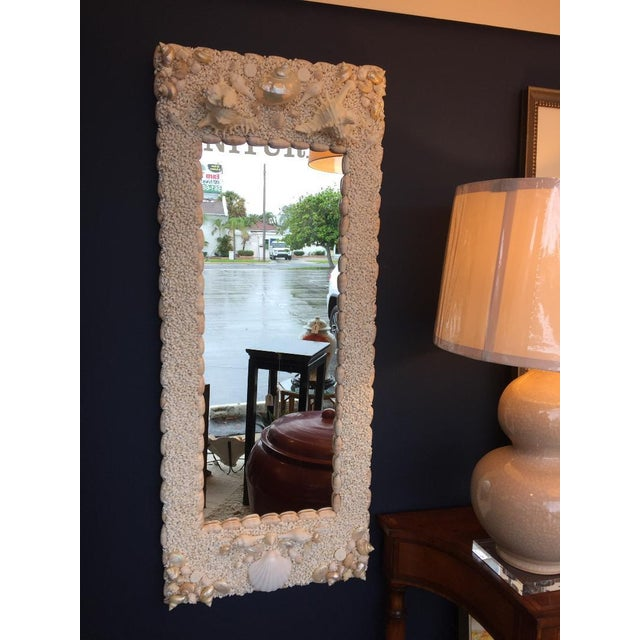Associated American Artists Full-Length Shell Mirror For Sale - Image 4 of 4