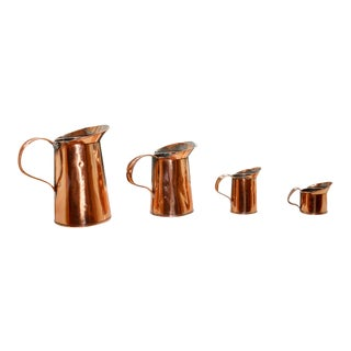 Graduated Copper Measures - Set of 4 For Sale