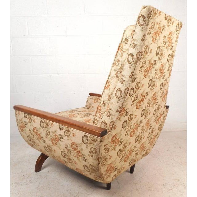 1970s Adrian Pearsall Style Mid-Century Modern High Back Lounge Chair For Sale - Image 5 of 10