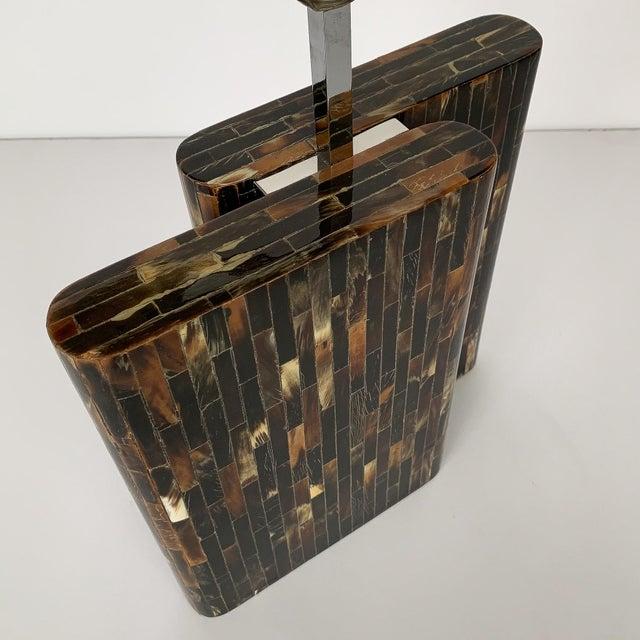 Black Enrique Garcel Tessellated Horn Table Lamp For Sale - Image 8 of 13