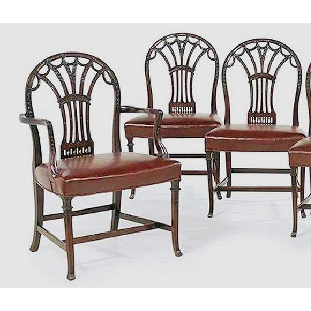 George III Style Dining Chairs - Set of 6 - Image 4 of 7