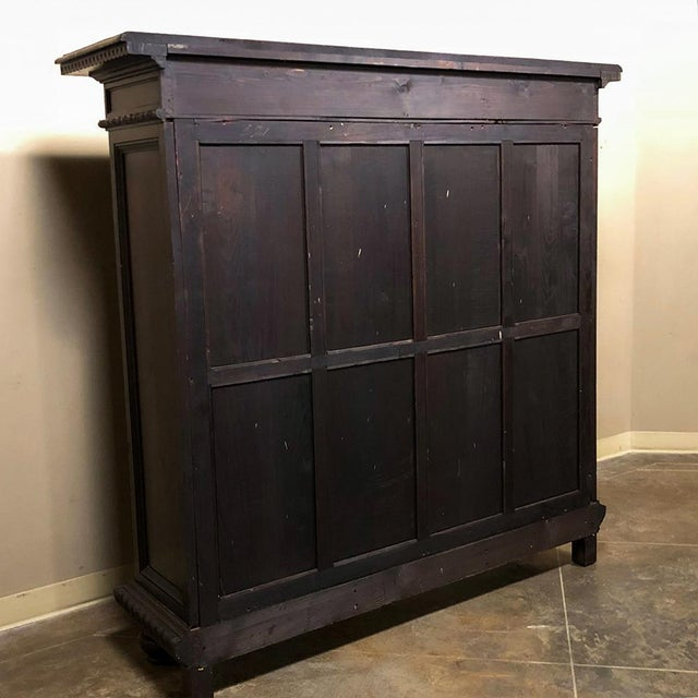 19th Century Italian Neoclassical Walnut Barrister's Bookcase For Sale - Image 11 of 12