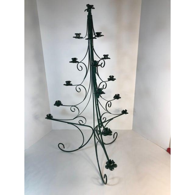 Christmas Tree Candle Holder.Sweedish Wrought Iron Table Top Christmas Candle Holder Tree