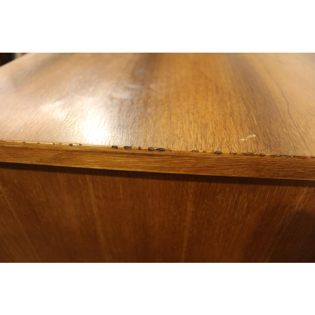 Mid-Century Danish Modern Curved Front Walnut Tall Chest Dresser For Sale - Image 10 of 11