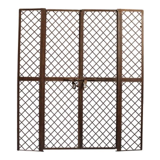 Vintage Iron Garden Gate For Sale